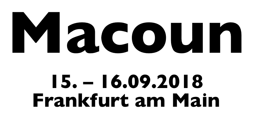 Macoun 2018. 15.09. - 16.09.2018. Frankfurt am Main.